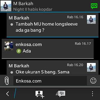 Testimoni Muhammad Habib Barkah di enkosa sport toko online jersey terpercaya