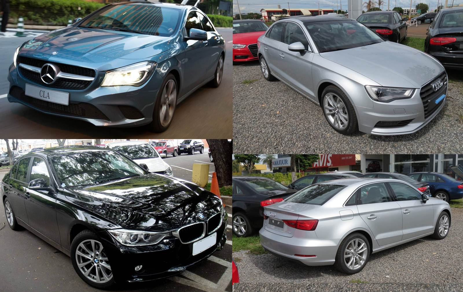 Audi A3 Sedan x Mercedes-Benz CLA x BMW 320i Active Flex