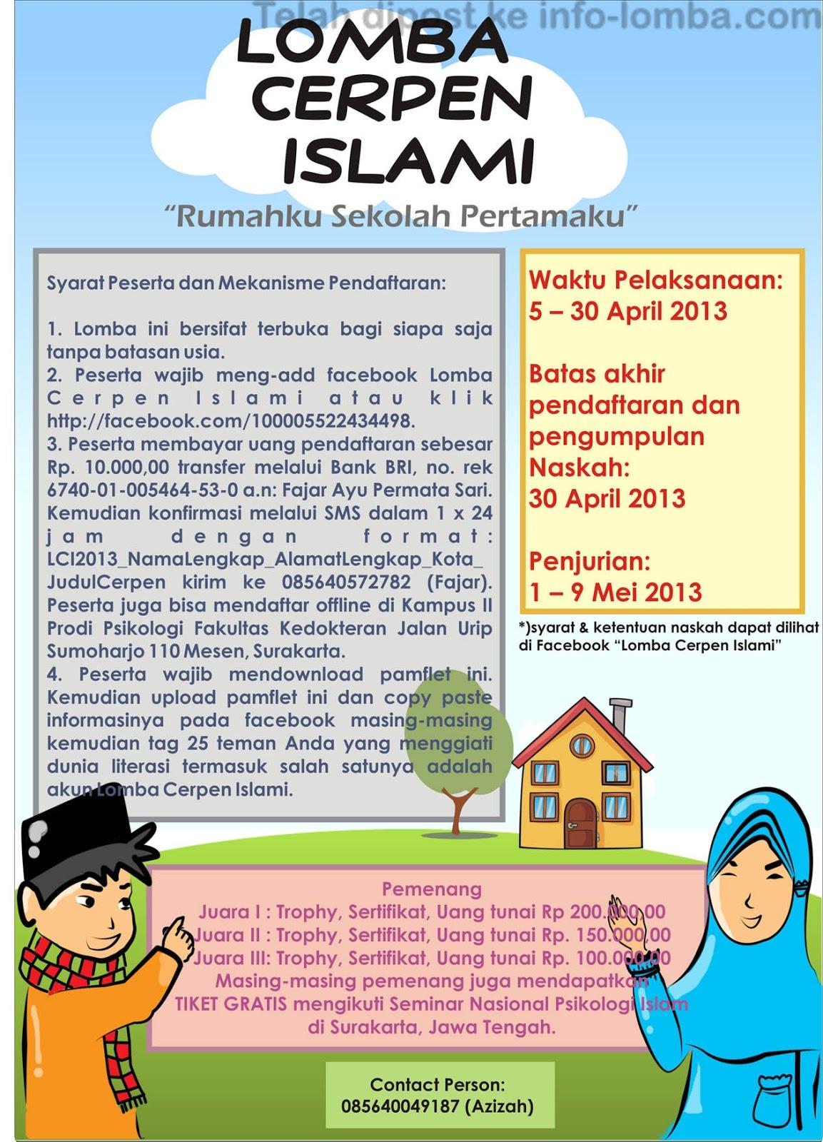 Lomba Cerpen Islami 2013