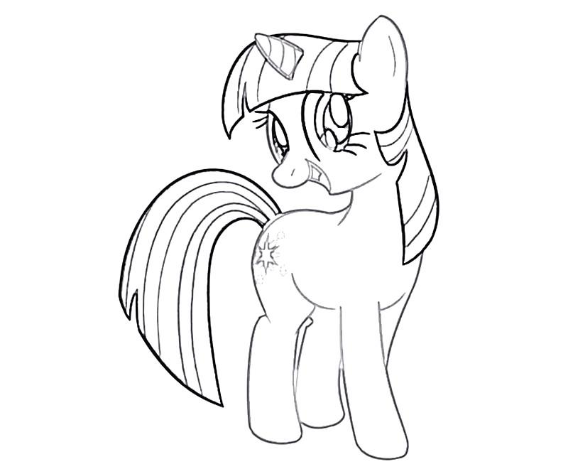 #23 Twilight Sparkle Coloring Page