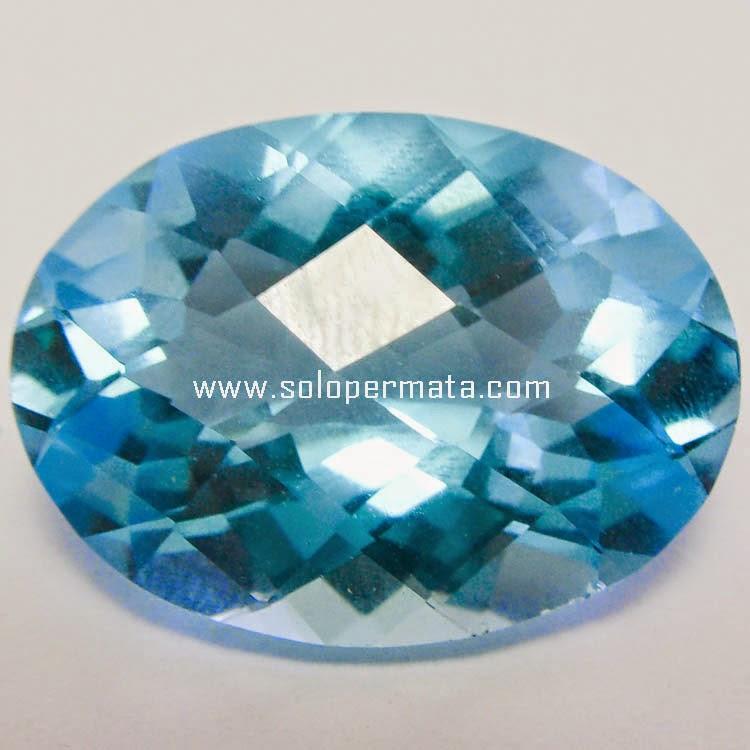 Batu Permata Blue Topaz Huge