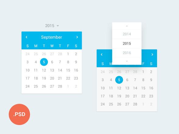 Free Calendar Templates Psd