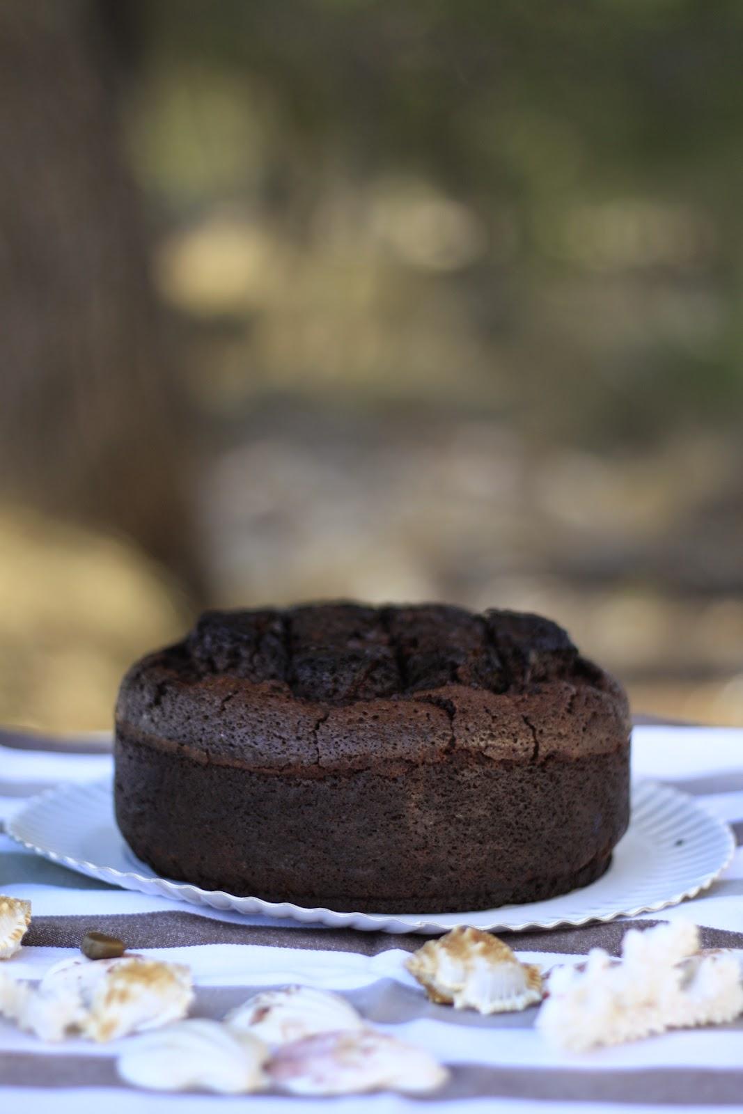 bizcocho de chocolate para tartas fondant