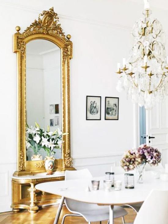 Pimenta rosa lustres for Decoracion con espejos antiguos