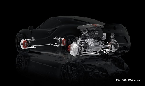 Alfa Romeo 4C Suspension Cutaway