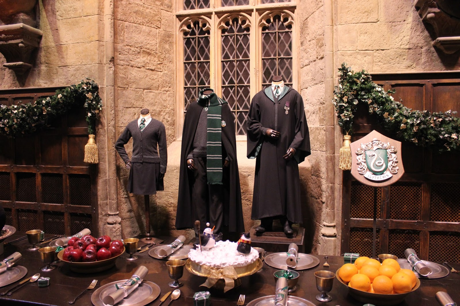 Harry Potter studio tour london great hall costumes