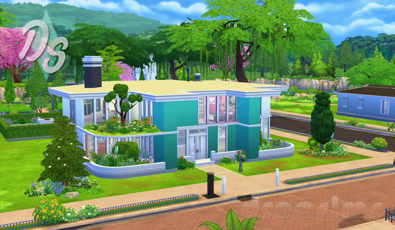 Dreasims for Casas modernas sims 4 paso a paso