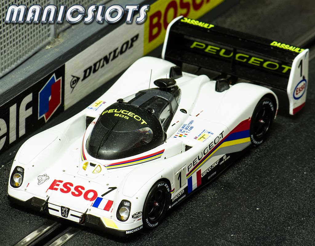 manicslots 39 slot cars and scenery gallery le mans miniatures peugeot 905. Black Bedroom Furniture Sets. Home Design Ideas