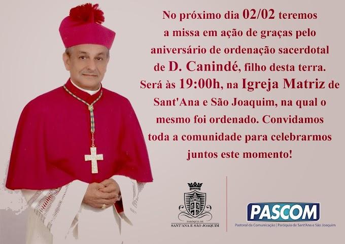 MISSA PELO ANIVERSÁRIO DE ORDENAÇÃO DE D. CANINDÉ