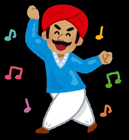 踊るインド人男性のイラスト ... : 音符の絵 : すべての講義