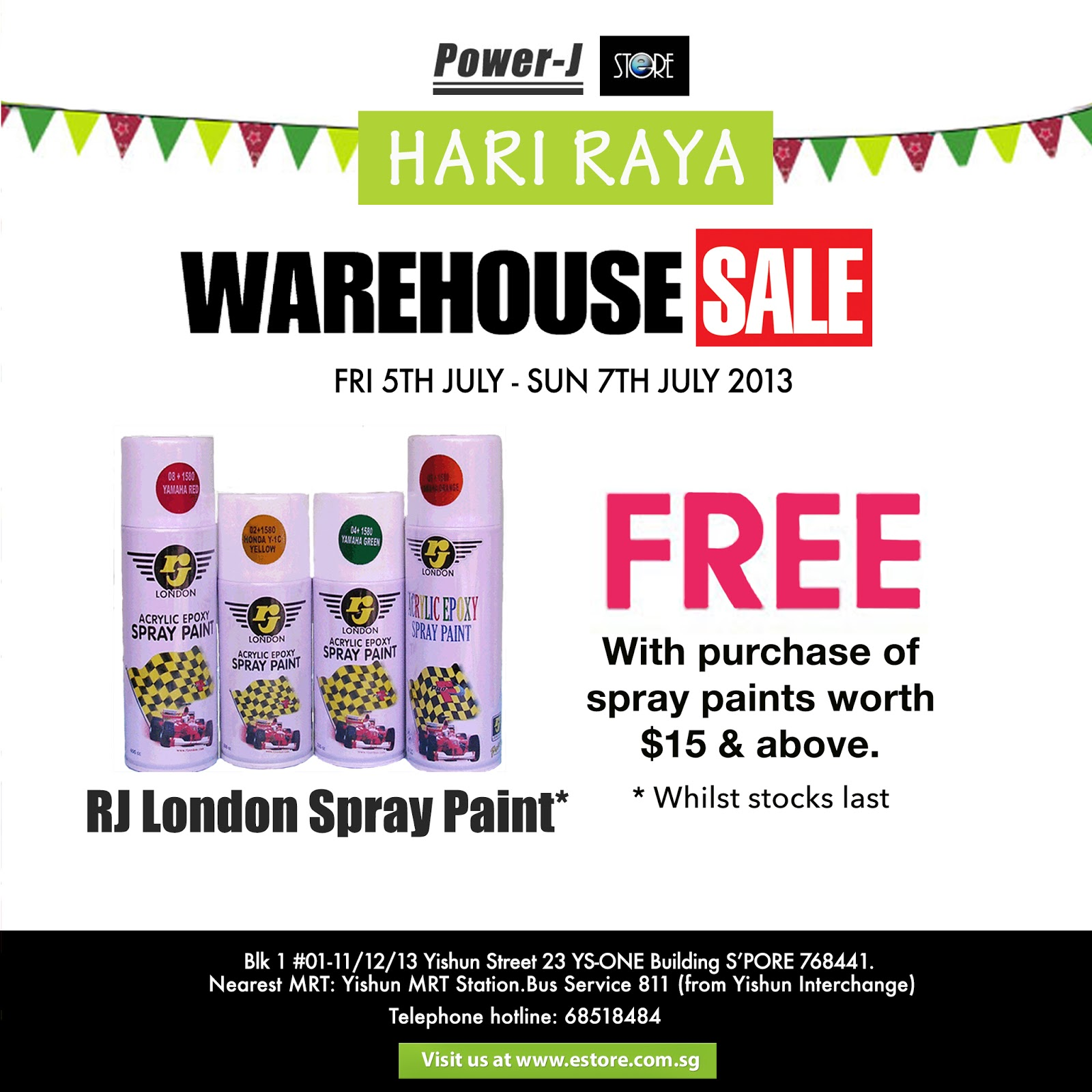 Estore Singapore Promotions Get Spray Paint Free With