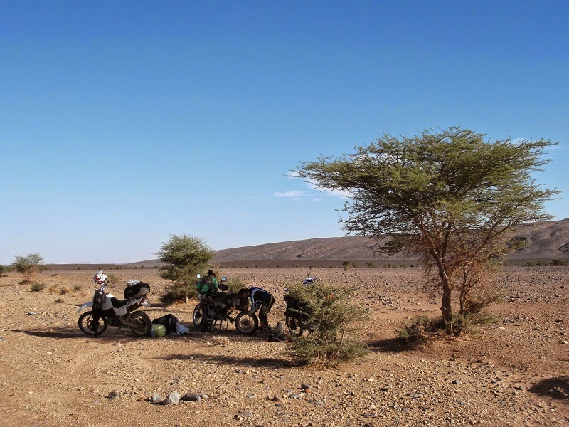 Pinchazo en Marruecos
