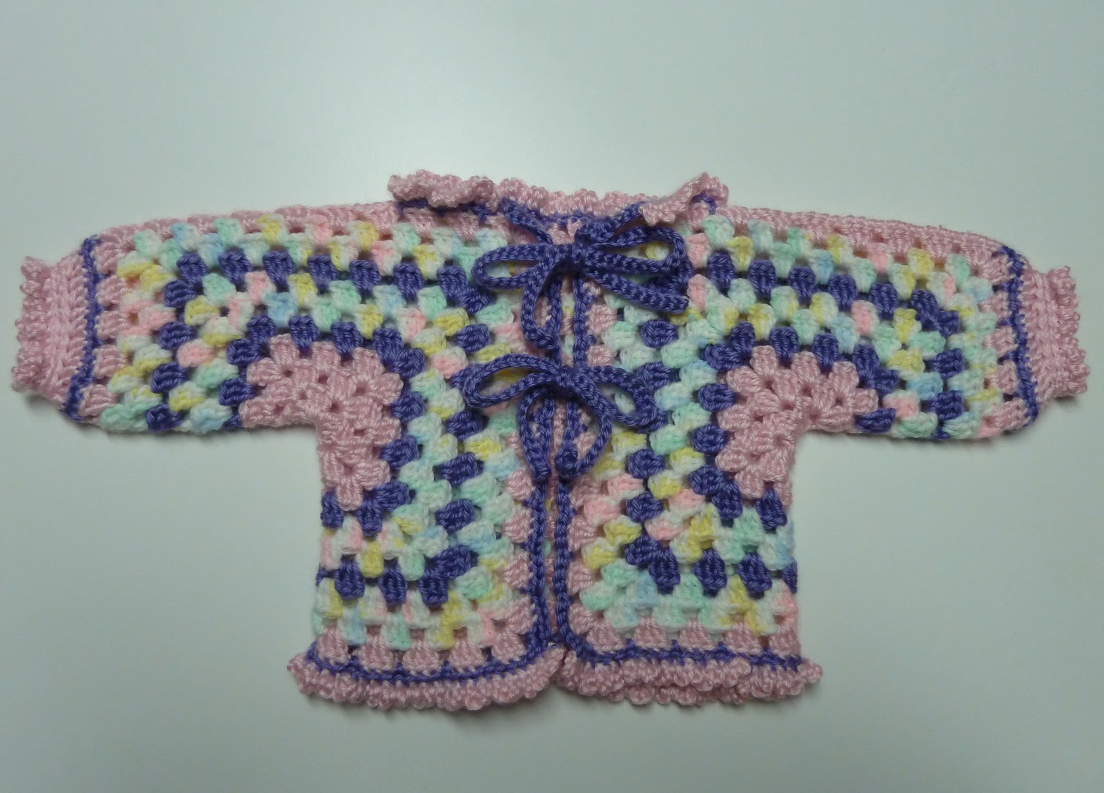 Cary2Crafty: Crochet: Hexagon Granny Baby Jacket