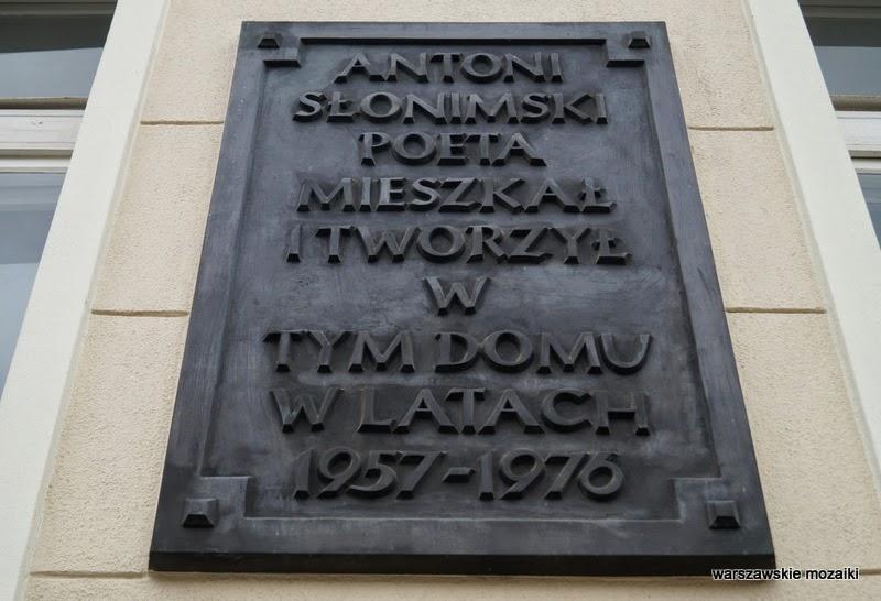 Warszawa Śródmieście ulica willa pałacyk kamienica ambasada Antoni Słonimski