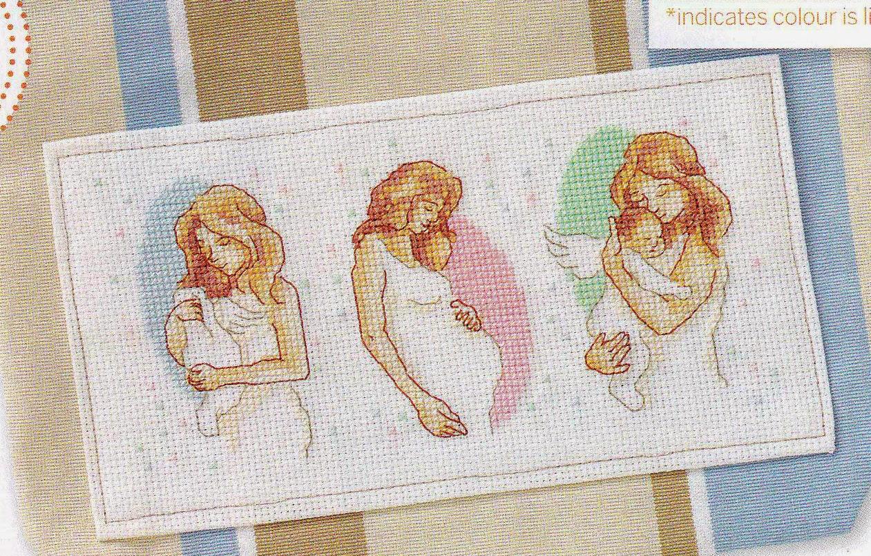 Вышивка крестом mothers