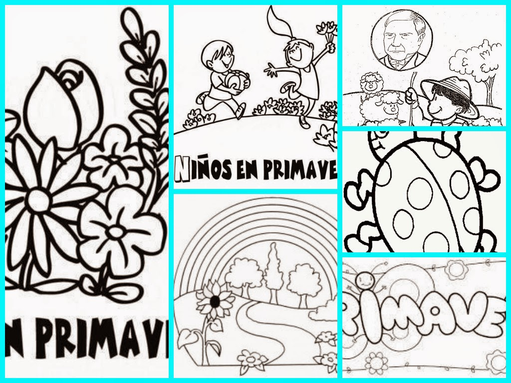 Dibujos Primavera Colorear. Cool Dibujo De Margaritas En Primavera ...