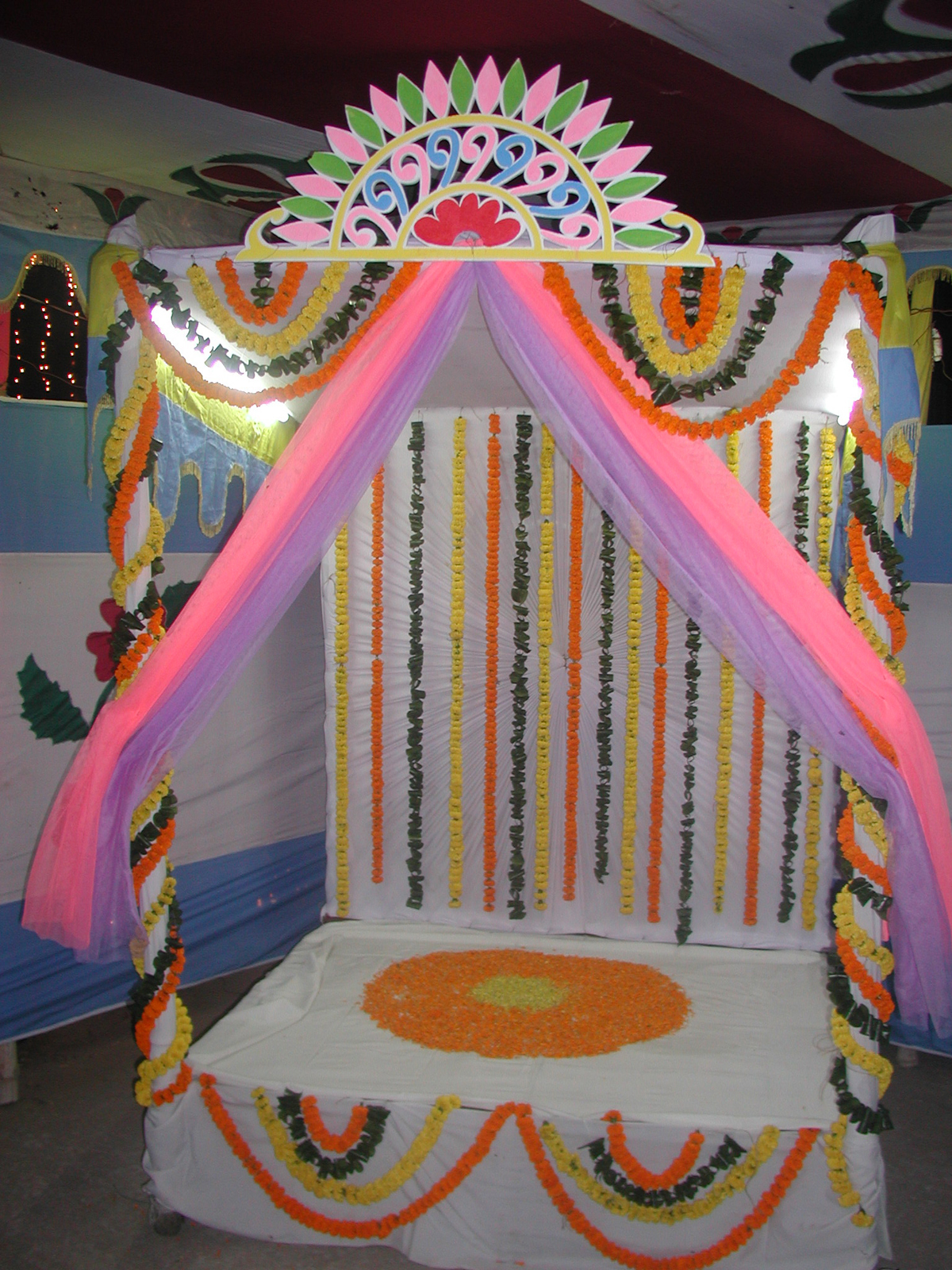 Gaye Holud Or Biye Simple Stage Design Wedding Decoration Ideas