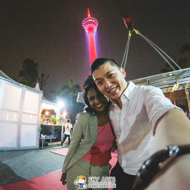 #TCSelfie with Yoges and KL Tower before we leave Dinner In The Sky.