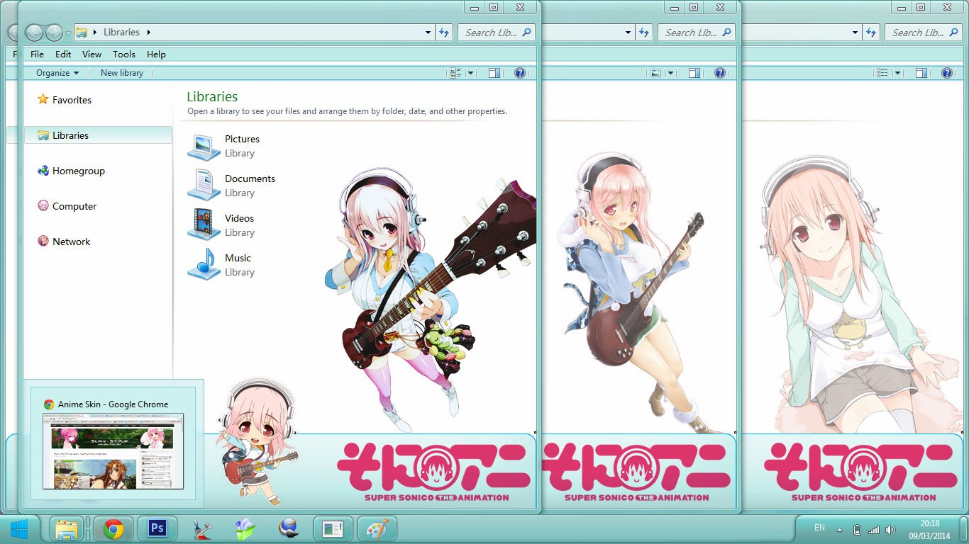 [Theme Win 7] Super Sonico The Animation By Bashkara Image 3 - Suck-Style
