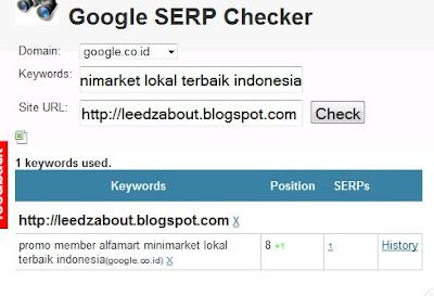 cek posisi blog di google