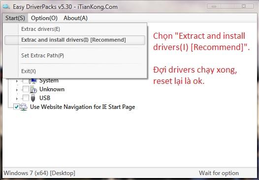 Cách Sử dụng Easy driver Pack 5.3.1.2