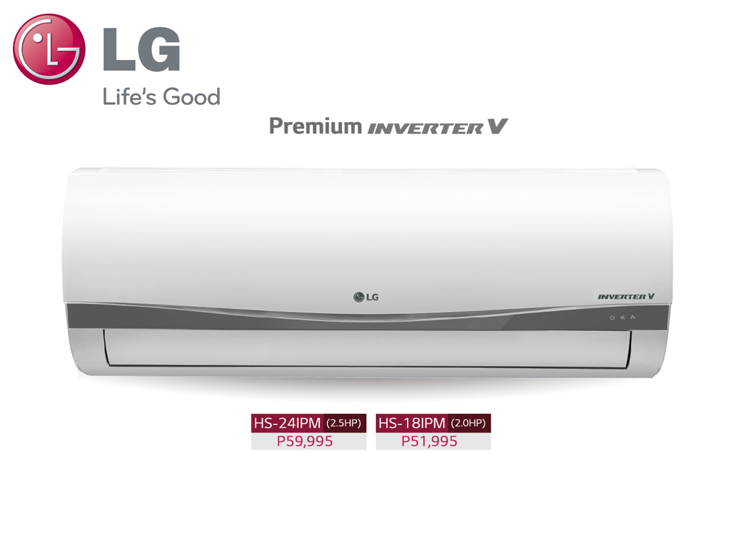 LG's Inverter V technology air conditioners