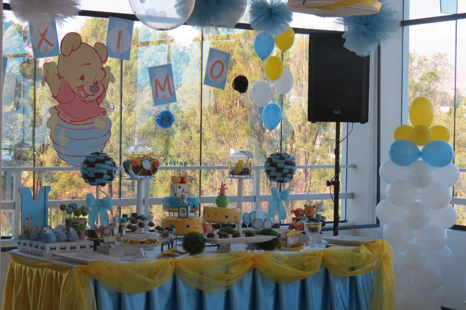 Baby shower de winnie the pooh para ni o m ximo baby for Decoracion y ideas