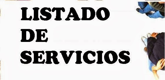 LISTADO DE SERVICIOS 2017