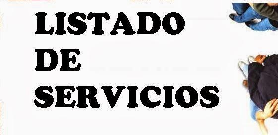 LISTADO DE SERVICIOS 2019