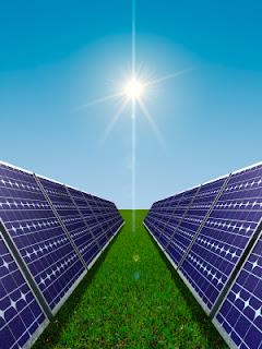paneles solares y el sol