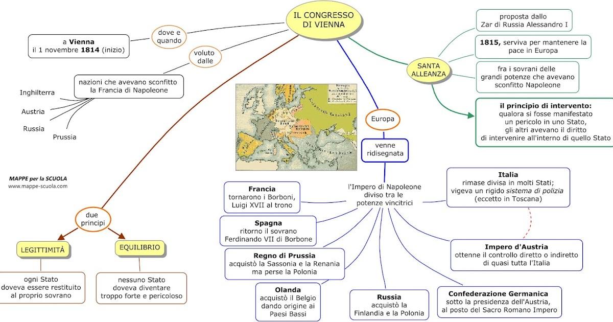 mappe per la scuola congresso di vienna
