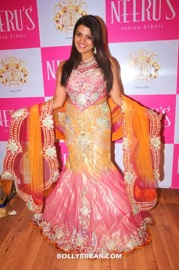 tashu kaushik posing by spreading her arms with dupatta - Tashu Kaushik at Neerus elite