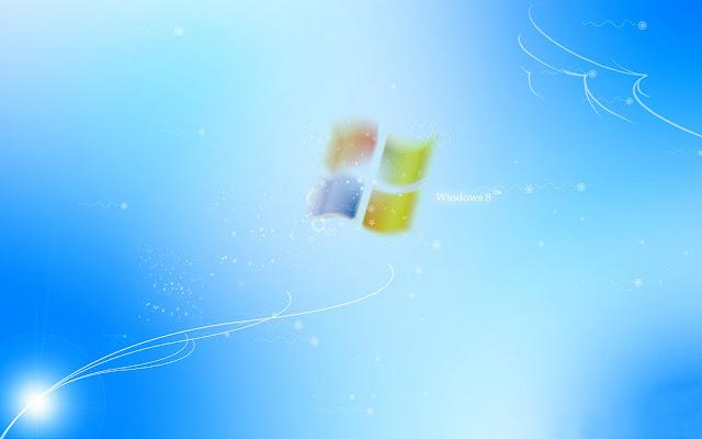 Lichtblauwe Windows 8 achtergrond
