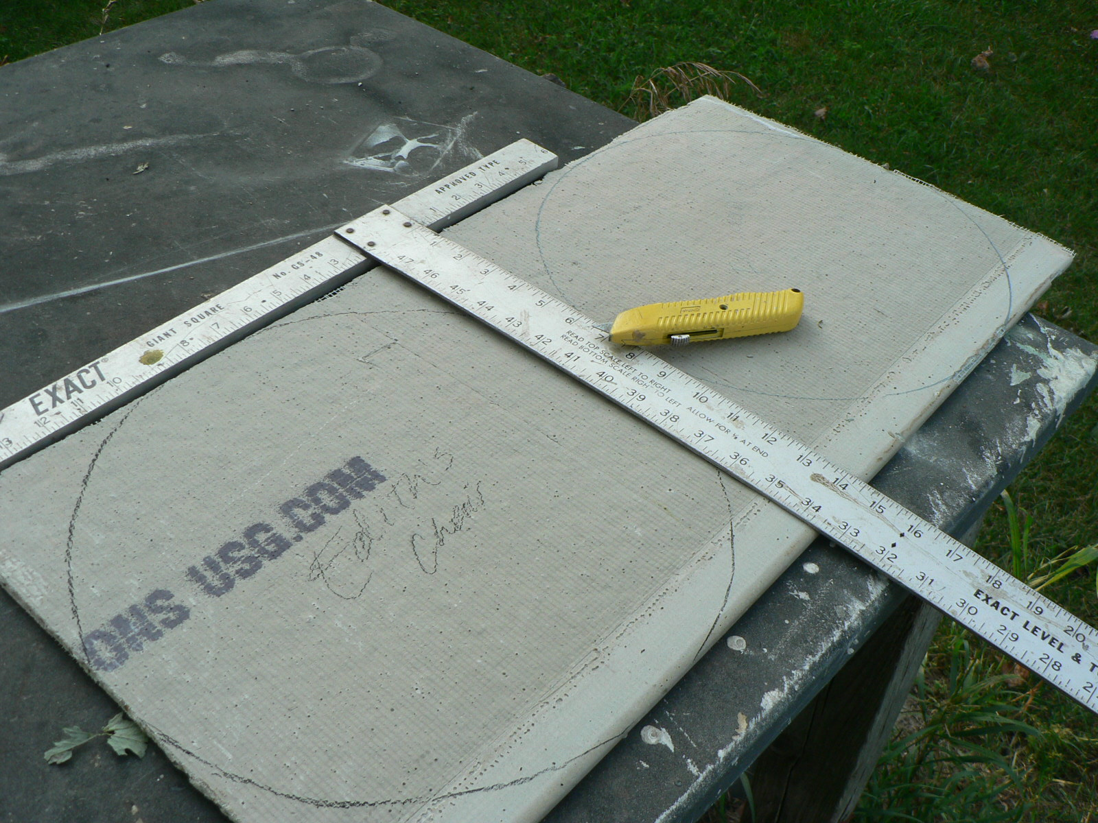 Cutting Cement Board : Ann tubbs pottery studio my father s t square cutting