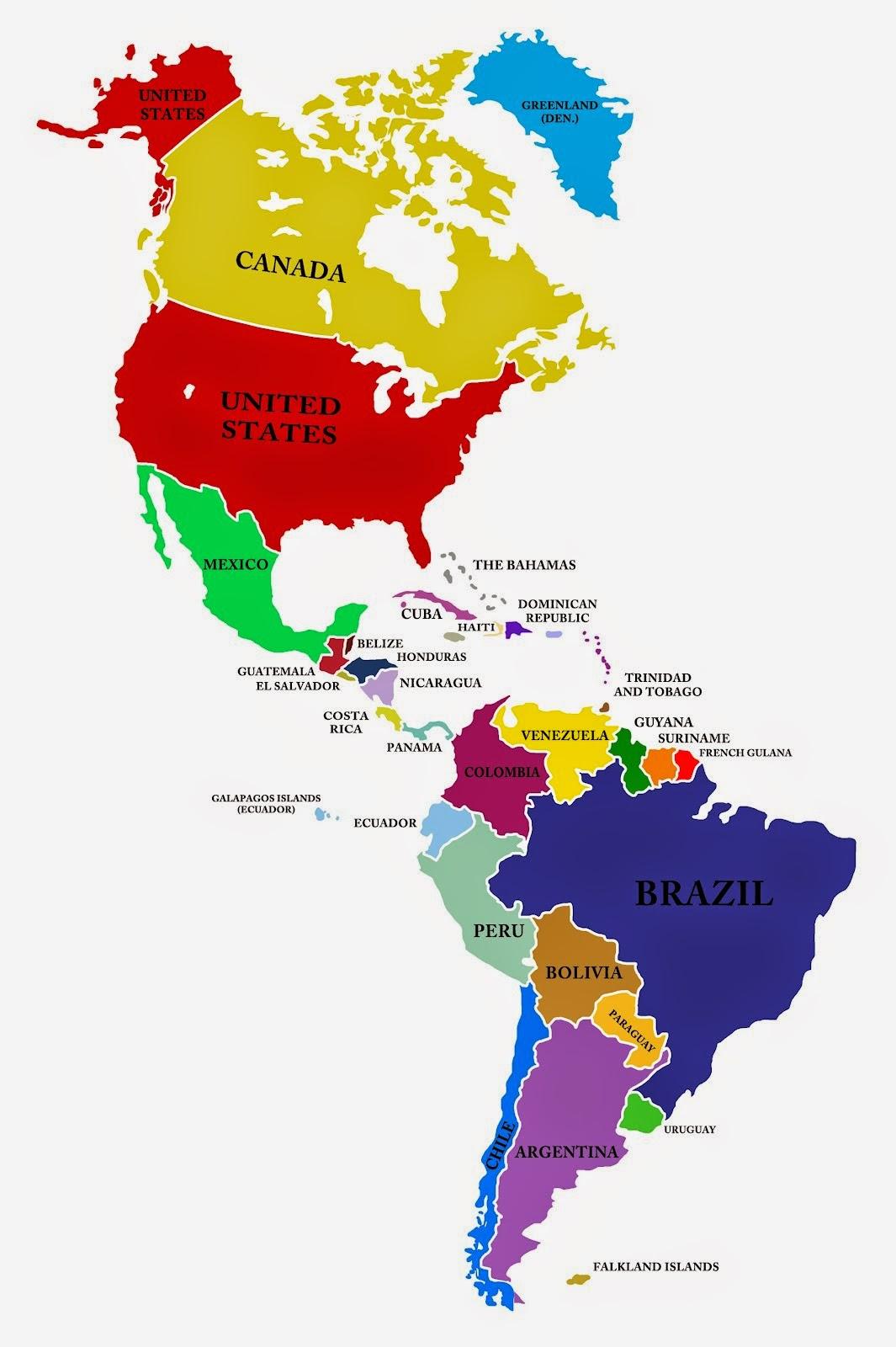Ver Mapa De America Del Norte