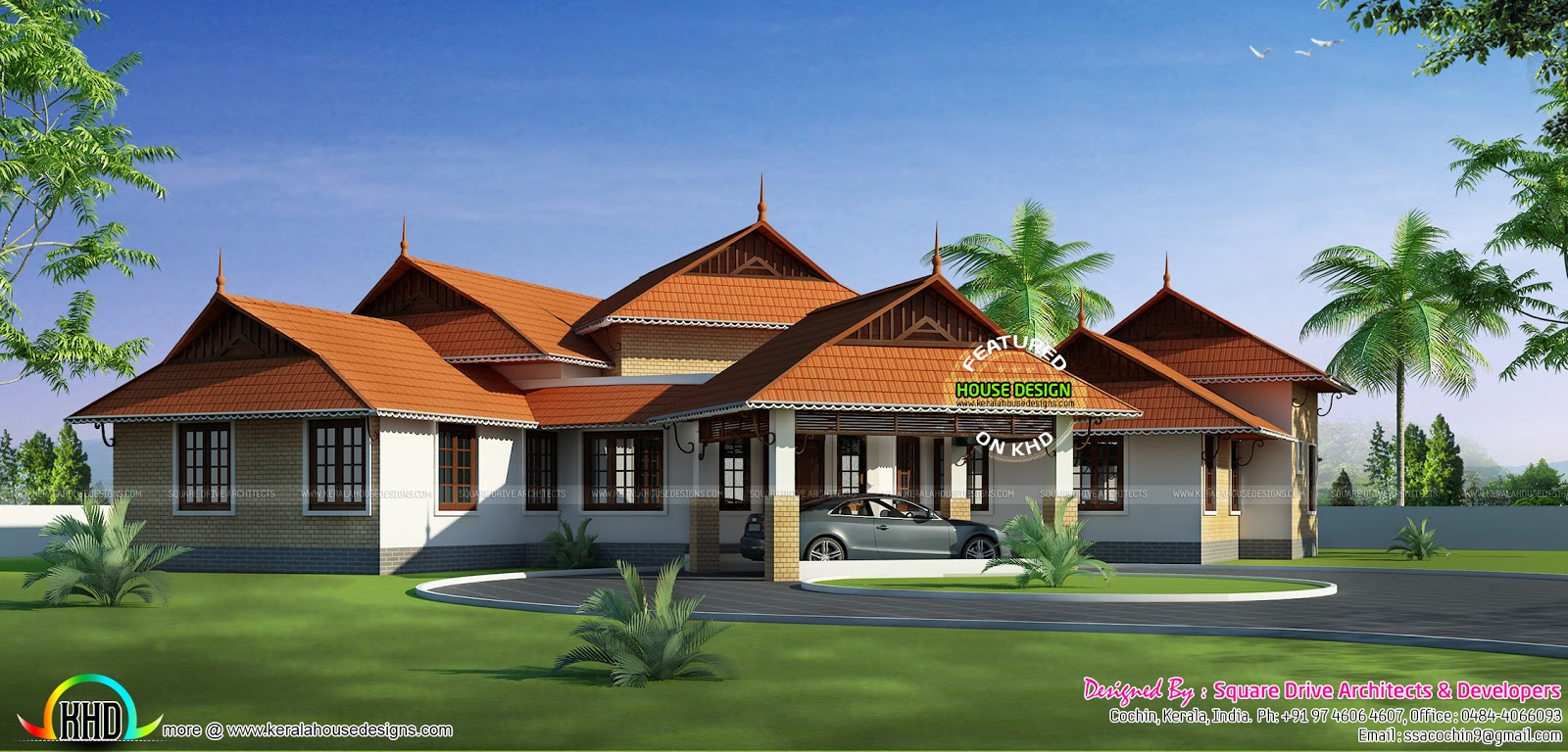 Kerala style home design 2016 kerala home design and for Kerala house designs and floor plans 2016