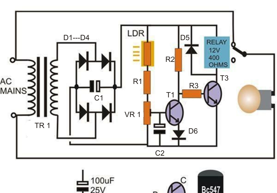 How to Build a Simple Automatic Street Light System   wiring radar
