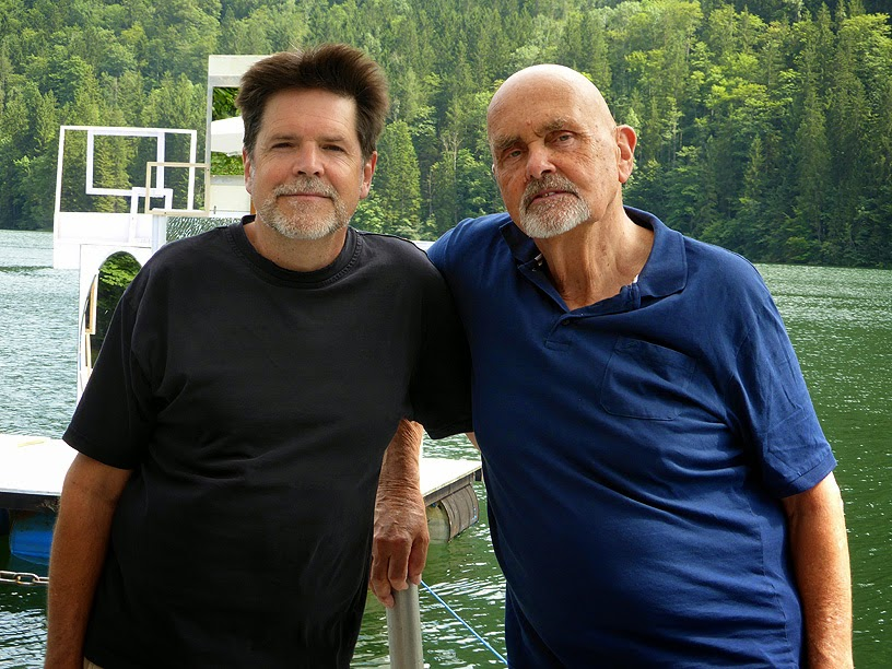 Tim Story avec Hans Joachim Roedelius à Lunz am See, More Ohr Less Festival 2014 / photo S. Mazars
