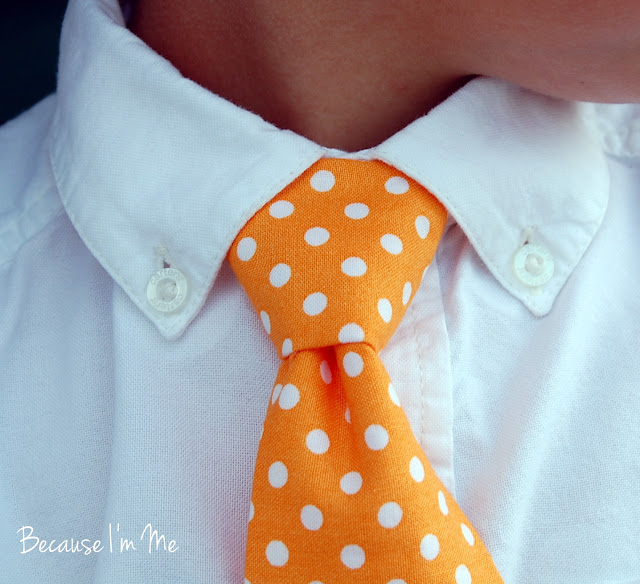 Because I'm Me boys orange dot necktie