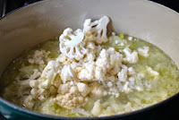 Making cauliflower soup