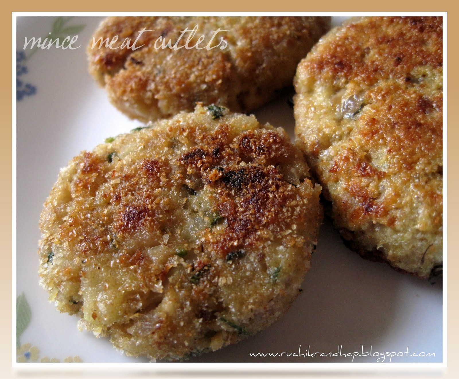 Mince meat cutlets ruchik randhap mince meat cutlets forumfinder Choice Image