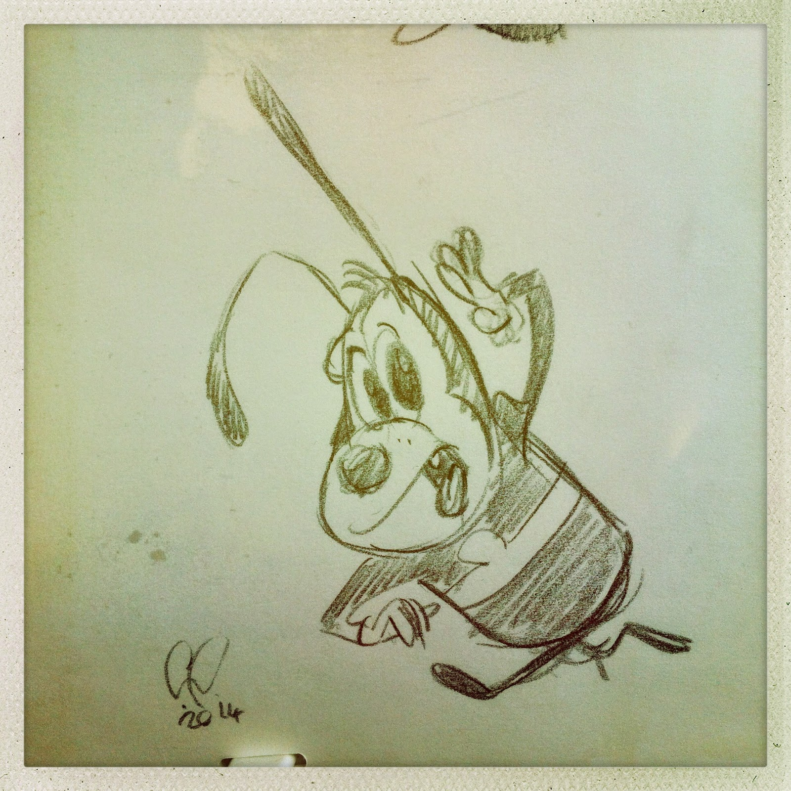 Sketch by Cesare Asaro - Creative Director at Curio & Co. (Curio and Co. OG - www.curioandco.com) - retro character design.