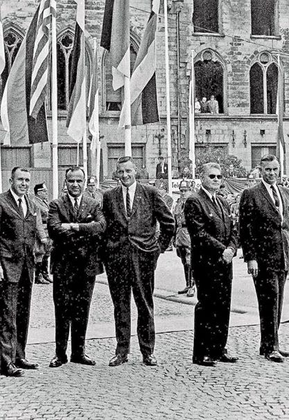 Agents Gerald Blaine, Sam Sulliman, Paul Burns, James Rowley, and Roy Kellerman, June 1963