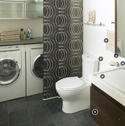 Blog de decora o arquitrecos faltou espa o rea de for Small bathroom designs with washer and dryer