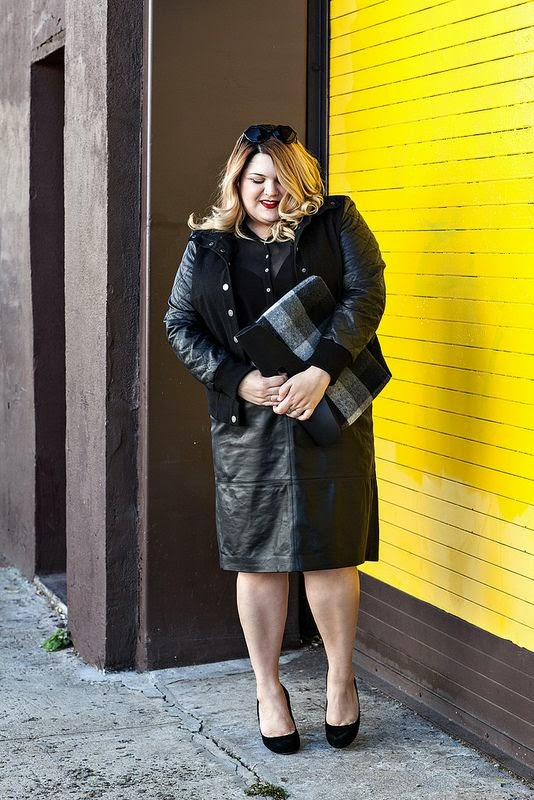 Leather skirt for curvy girls - style en mi opinion