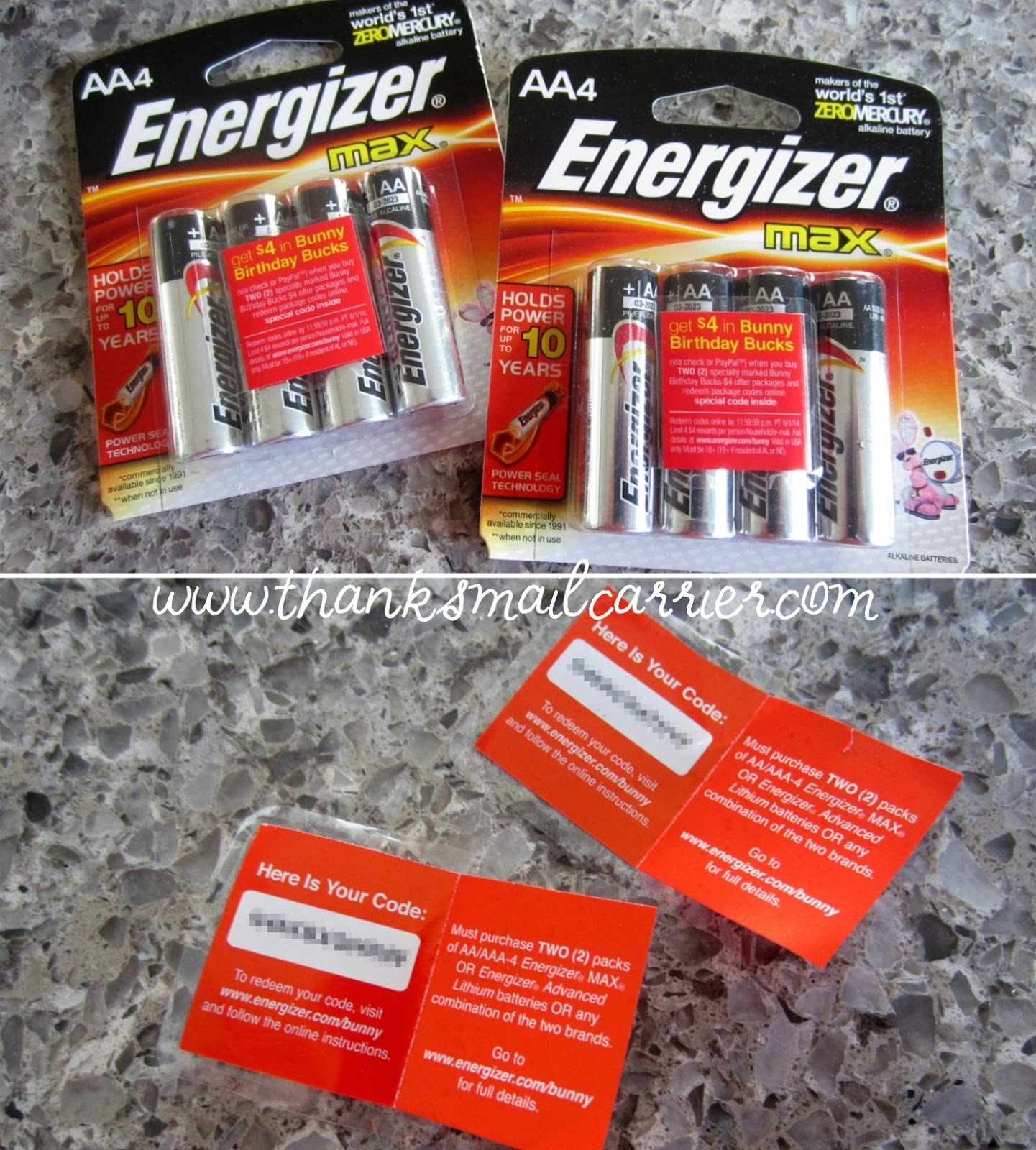 Energizer Birthday Bucks codes