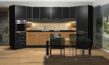 Diseño en negro y madera
