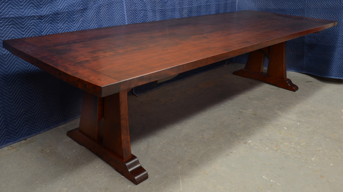 Comtrestle Table Design : ... Furniture - A Woodworkers Photo Journal: a custom cherry trestle table