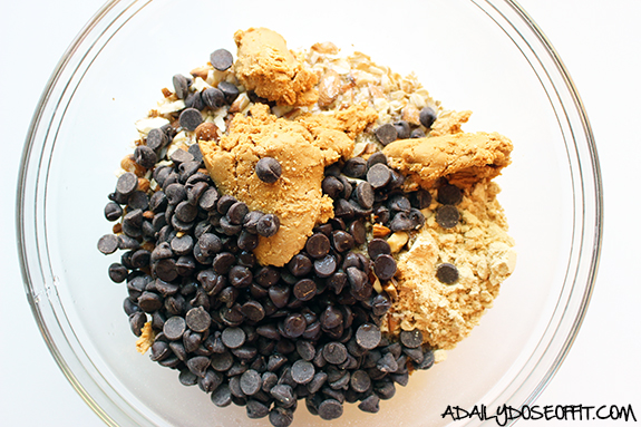 Simple ingredients mixed together make healthy protein snacks in minutes.