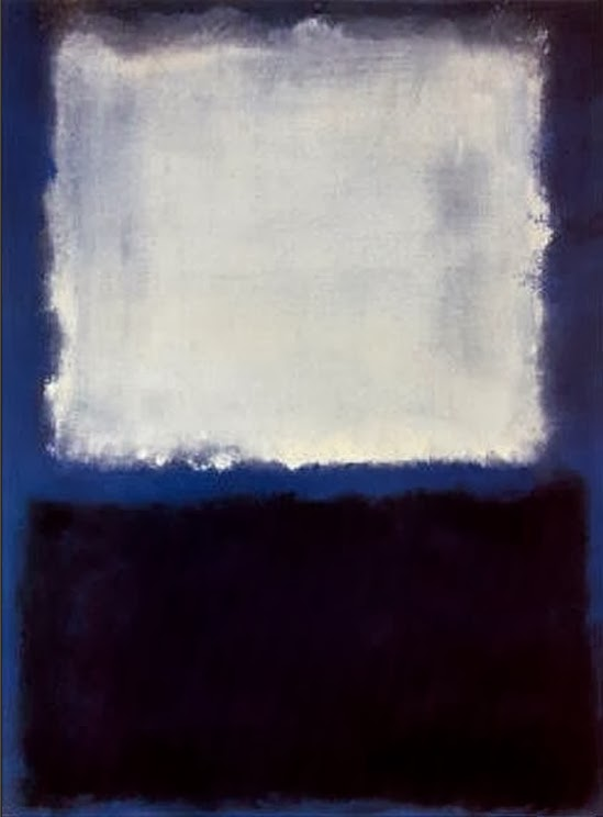 Mark Rothko - White on Blue